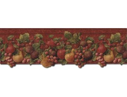 9 in x 15 ft Prepasted Wallpaper Borders - Fruits Wall Paper Border FF51005DB