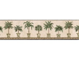 Prepasted Wallpaper Borders - Trees Wall Paper Border FF51015B