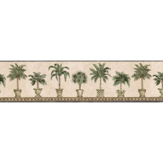 6 7/8 in x 15 ft Prepasted Wallpaper Borders - Trees Wall Paper Border FF51015B