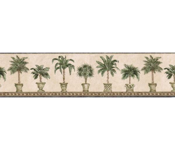 Tropical Trees Wallpaper Border FF51015B