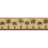 Tropical Wallpaper Borders: Trees Wallpaper Border FF51016B