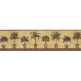6 7/8 in x 15 ft Prepasted Wallpaper Borders - Trees Wall Paper Border FF51016B