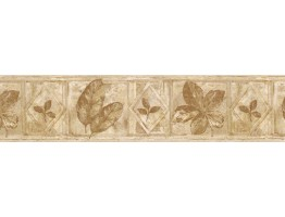 Prepasted Wallpaper Borders - Leafs Wall Paper Border FF51021B