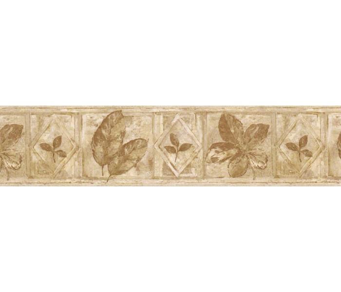 Floral Wallpaper Borders: Leafs Wallpaper Border FF51021B