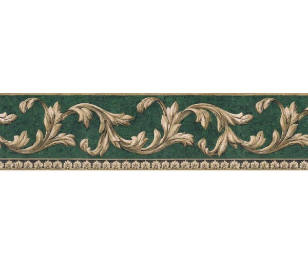 Prepasted Wallpaper Borders - Vintage Wall Paper Border FF51032B
