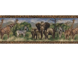 Prepasted Wallpaper Borders - Animals Wall Paper Border FF51114B