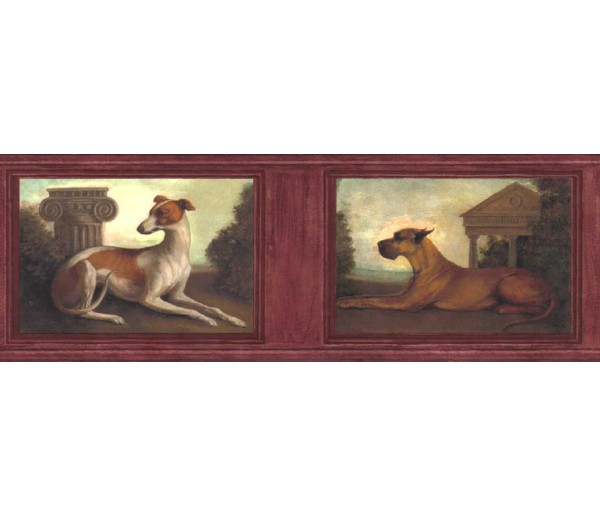 Clearance: Dogs Wallpaper Border b51651