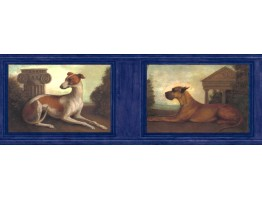 9 in x 15 ft Prepasted Wallpaper Borders - Dogs Wall Paper Border b51652