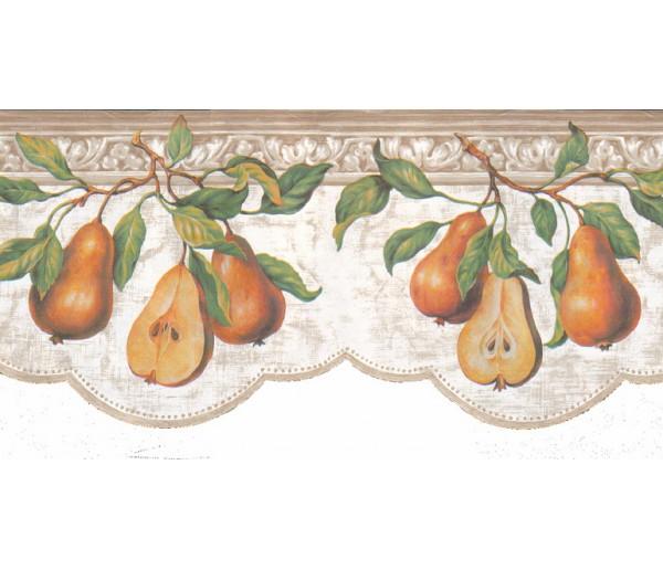 Clearance: Pear Fruits Wallpaper Border b52040