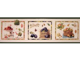 Prepasted Wallpaper Borders - Fruits Wall Paper Border B5242MB