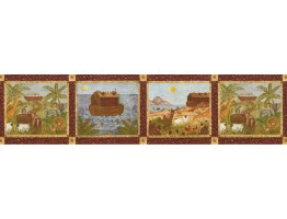 Prepasted Wallpaper Borders - Country Wall Paper Border B53228