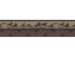 7 in x 15 ft Prepasted Wallpaper Borders - Horses Wall Paper Border b538580