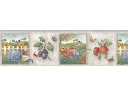 Prepasted Wallpaper Borders - Country Wall Paper Border b55056