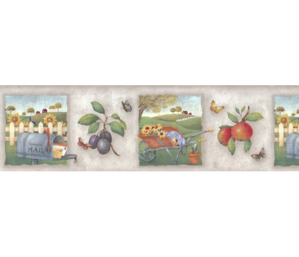 Clearance: Country Wallpaper Border b55056