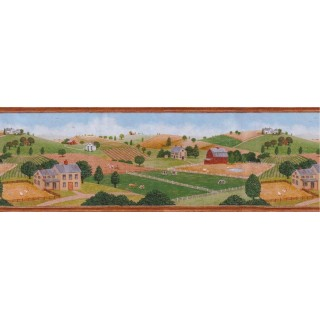 9 7/8 in x 15 ft Prepasted Wallpaper Borders - Country Wall Paper Border B55702