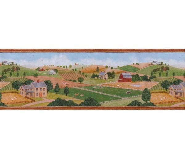 Country Wallpaper Borders: Country Wallpaper Border B55702