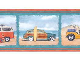Prepasted Wallpaper Borders - Cars Wall Paper Border PB58003B