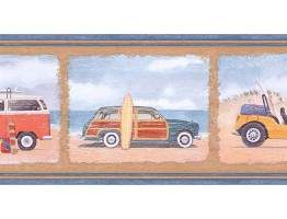 Prepasted Wallpaper Borders - Cars Wall Paper Border PB58004B
