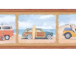 Prepasted Wallpaper Borders - Cars Wall Paper Border PB58005B