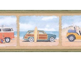 Prepasted Wallpaper Borders - Cars Wall Paper Border PB58006B