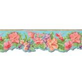 Clearance: Floral Wallpaper Border PB58016DB