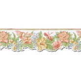 Floral Borders Floral Wallpaper Border PB58017DB Chesapeake Wallcoverings
