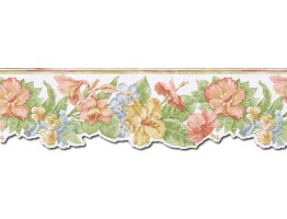 Prepasted Wallpaper Borders - Floral Wall Paper Border PB58017DB