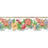 Floral Wallpaper Borders: Floral Wallpaper Border PB58019DB