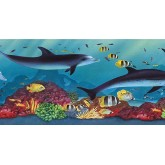Sea World Borders Acquarium Wallpaper Border PB58020B Chesapeake Wallcoverings