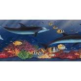 Sea World Wall Borders: Acquarium Wallpaper Border PB58021B