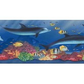 Sea World Wall Borders: Acquarium Wallpaper Border PB58022B
