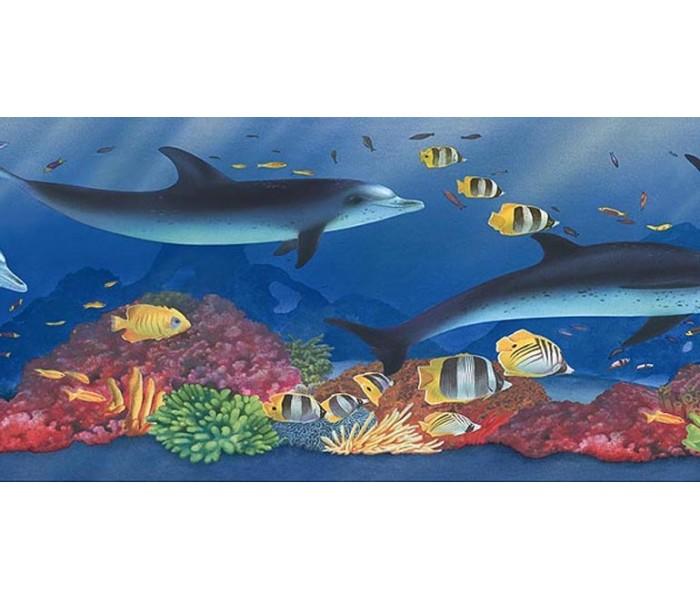 Sea World Wall Borders: Acquarium Wallpaper Border PB58022B