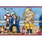 Clearance: Fishing Wallpaper Border PB58025B