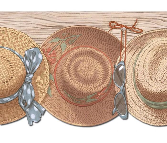 Clearance: Hats Wallpaper Border PB58027DB