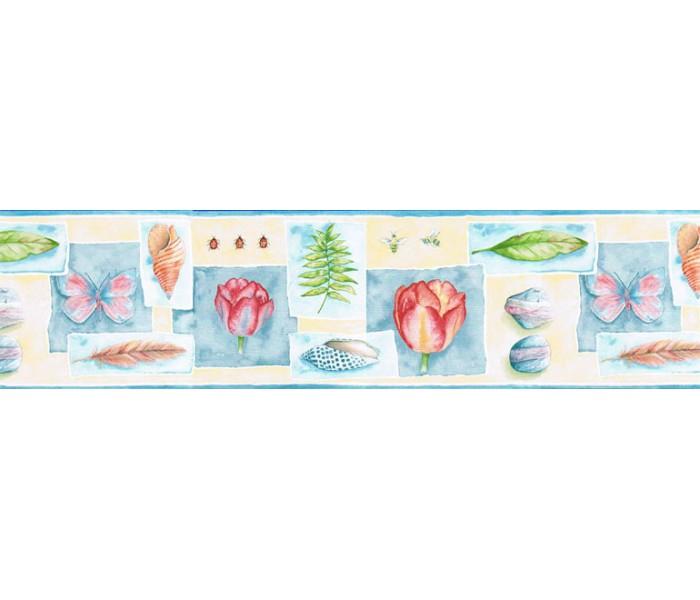 Clearance: Floral Wallpaper Border PB58030B