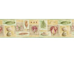 Prepasted Wallpaper Borders - Floral Wall Paper Border PB58032B