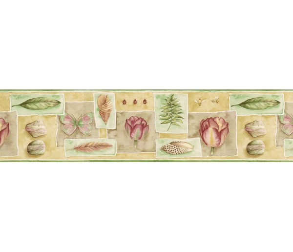 Clearance: Floral Wallpaper Border PB58032B