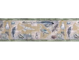 9 in x 15 ft Prepasted Wallpaper Borders - Birds Wall Paper Border b5803457