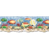 Sea World Wall Borders: Acquarium Wallpaper Border PB58036DB