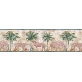 Jungle Wallpaper Borders: Animals Wallpaper Border B5804453
