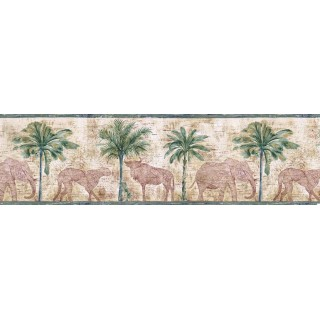 8 1/2 in x 15 ft Prepasted Wallpaper Borders - Animals Wall Paper Border B5804453