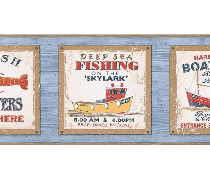 Fishing Wallpaper Borders: Fishing on the Skylark Wallpaper Border PB58045B