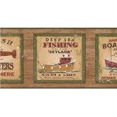 Clearance: Fishing on the Skylark Wallpaper Border PB58046B