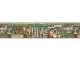 Prepasted Wallpaper Borders - Country Wall Paper Border PB58051B