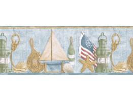 10 1/4 in x 15 ft Prepasted Wallpaper Borders - Sea World Wall Paper Border PB58052B