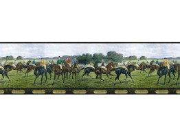 9 in x 15 ft Prepasted Wallpaper Borders - Horses Wall Paper Border b5806285