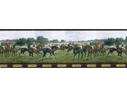 9 in x 15 ft Prepasted Wallpaper Borders - Horses Wall Paper Border b5806287