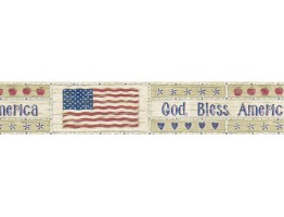 Prepasted Wallpaper Borders - Flag Wall Paper Border B5806900