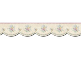 Prepasted Wallpaper Borders - Floral Wall Paper Border B5870