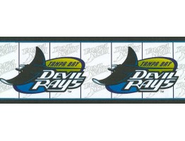 Prepasted Wallpaper Borders - Tampa Bay Devil Rays Wall Paper Border 588451